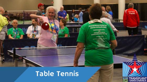 Table Tennis Transplant Games Of America