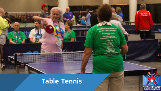 Ping Pong Game With American Lives >> Table Tennis Transplant Games Of America